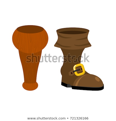 Wooden pirate leg isolated. wood filibuster prosthesis Stock photo © popaukropa