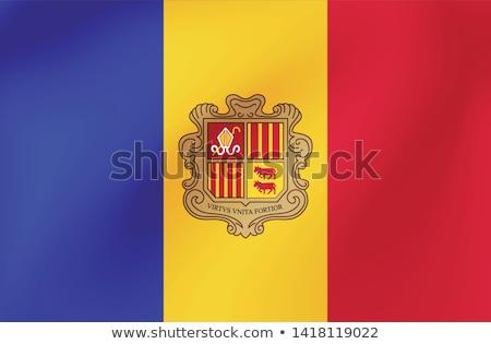 Andora flag, vector illustration Stock photo © butenkow