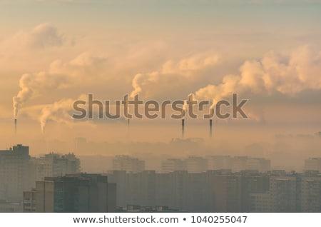 dumanlı · sis · karanlık · gökyüzü · 3d · illustration · toprak - stok fotoğraf © lightsource