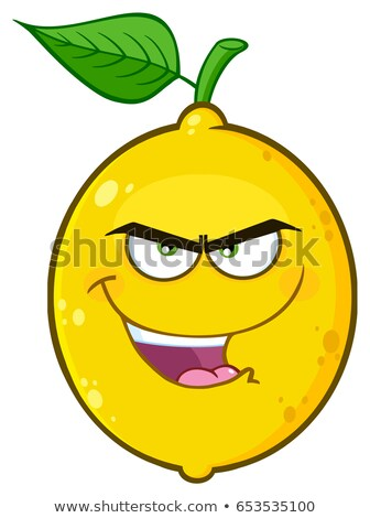 evil yellow cartoon emoji face character with bitchy expression stock photo © hittoon