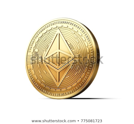 Etherium stack. Cryptocurrency on white background. Virtual mone Stock photo © popaukropa