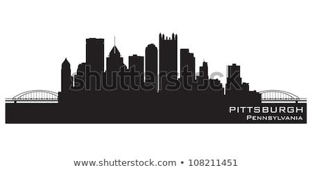 Pittsburgh Skyline Silhouette Сток-фото © YurkaImmortal