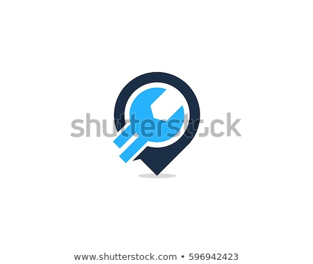 repair point with wrench - icon design Stock photo © djdarkflower