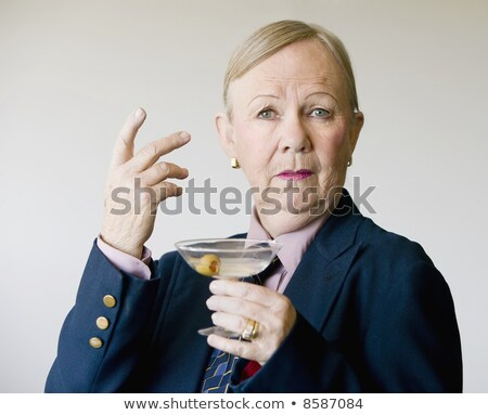 Férfi tart martinis pohár nő divat üveg Stock fotó © wavebreak_media