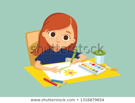 Draw a picture smile Stock photo © Olena