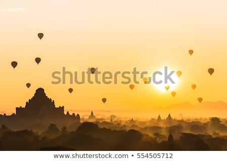 Myanmar. Old Bagan landscape with temples Stock photo © romitasromala