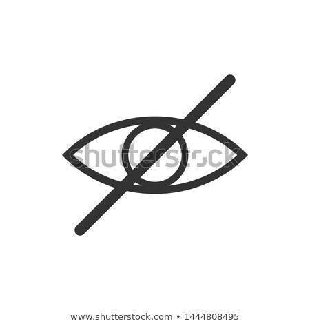No eye Prohibition Sign. No look forbidden symbol. No see icon. Vector Illustration isolated on mode Stock photo © kyryloff