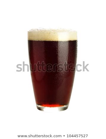 Verre boire bière cool froid isolé Photo stock © SergeMat