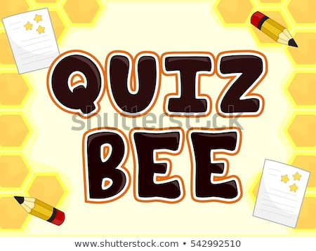 Quiz Bee Test Lettering Stock photo © lenm