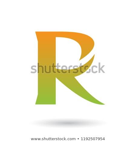 Orange vert gradient queue vecteur isolé Photo stock © cidepix