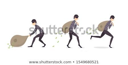 rajz · gengszter · tart · táska · illusztráció · férfi - stock fotó © bennerdesign