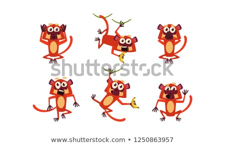 Scared Cartoon Lemur Stock photo © cthoman