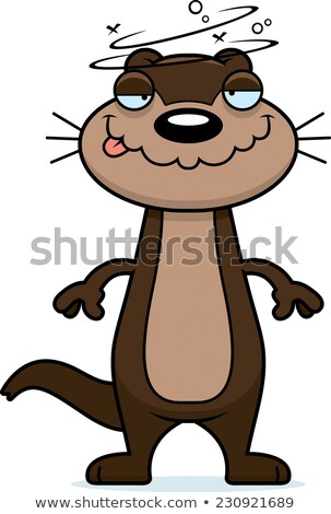 Drunk Cartoon Otter Stock photo © cthoman