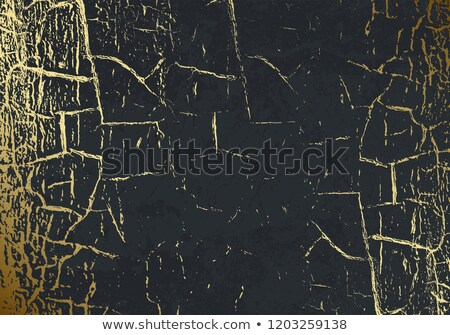 Vector marble texture with cracked golden foil. Patina. Gold scratch. Subtle dark grey holiday Stock photo © Iaroslava