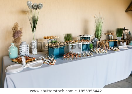 gala · receptie · klaar · tabel · voedsel · drinken - stockfoto © ruslanshramko