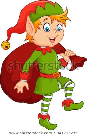 Cartoon garçon elf souriant illustration heureux Photo stock © cthoman