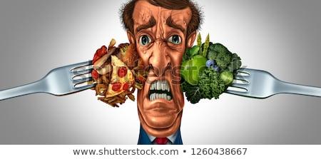 dieta · dilemma · decisione · nutrizione · sani - foto d'archivio © lightsource