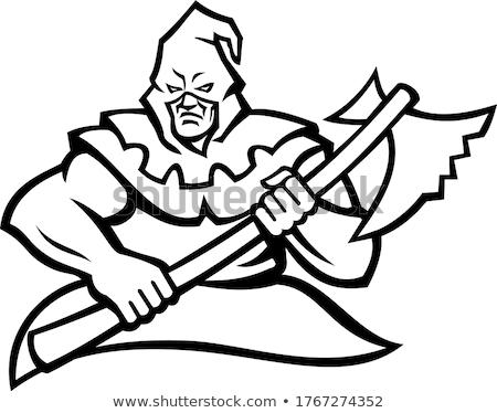 Kapucnis középkori kabala ikon illusztráció hordoz Stock fotó © patrimonio