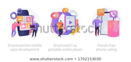 Smartwatch player concept vector illustration. Stock photo © RAStudio
