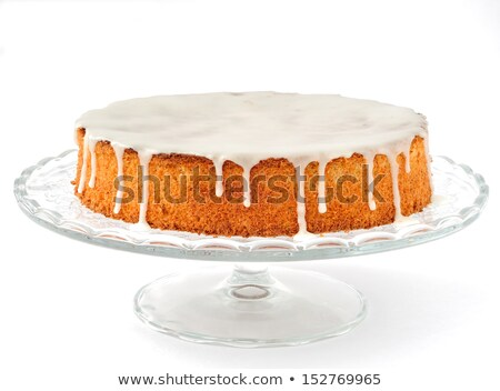 миндаль торт сахар вечеринка кофе рождения Сток-фото © YuliyaGontar