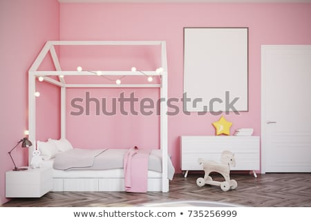 A Girl in Bedroom with Wardrobe Stock photo © colematt