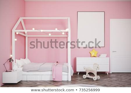 a girl in bedroom with wardrobe stock photo © colematt
