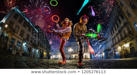 Clowns performing in the circus Stock photo © colematt