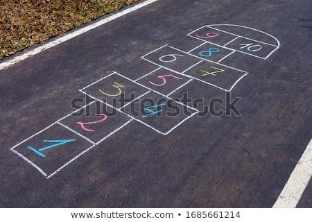 Rua jogo giz calçada recreio Foto stock © AisberG
