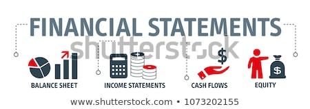 Ingresos financieros calculadora portátil empresa equilibrio Foto stock © RAStudio