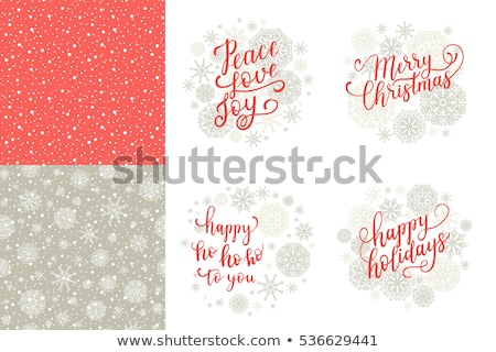 Merry and Bright Lettering Greetings with Garlands Stock photo © robuart