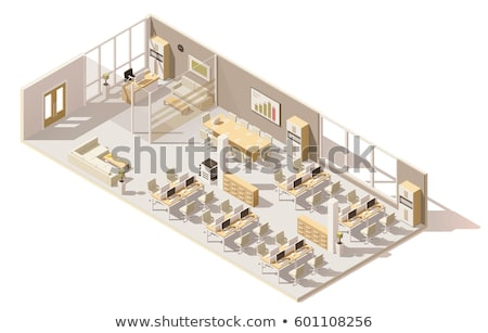 vector · isometrische · gebouw · ruimte · klein · sap - stockfoto © tele52