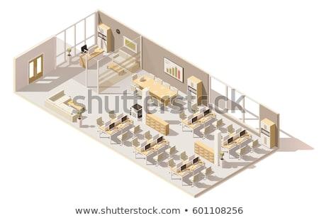 Stockfoto: Vector Isometric Coworking Space Interior Plan
