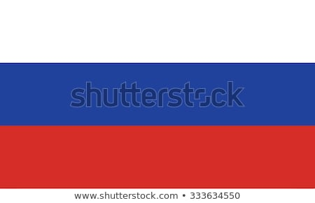 Russland Flagge weiß groß Set abstrakten Stock foto © butenkow