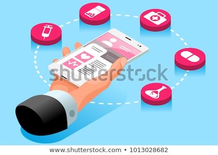 3d doctor holding mobile stock photo © nasirkhan