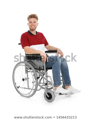 молодые · инвалидов · человека · коляске · портрет · счастливым - Сток-фото © elnur