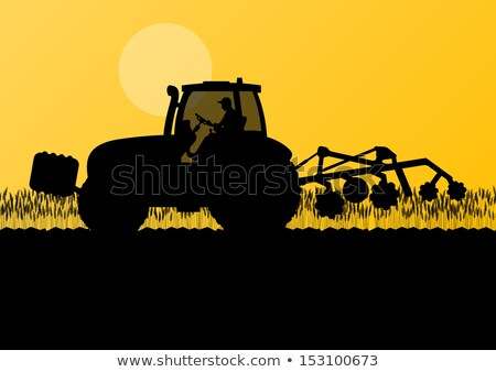 Tractor Cultivation of Land Vector illustration Stock photo © robuart