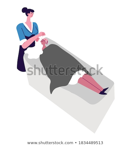 Cosmetician Face Procedure and Massage Vector Stock photo © robuart