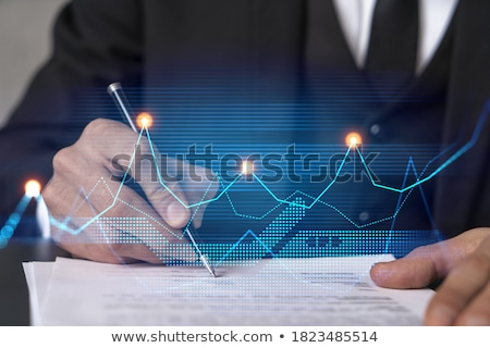 Investment analysis and new contract signature. Stock photo © cifotart