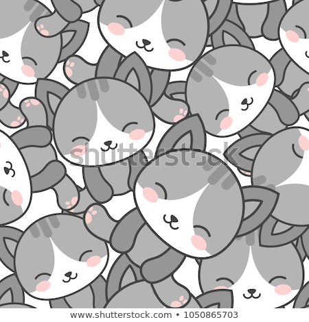 seamless pattern with cute cats stock photo © artspace