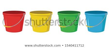 Rosso giallo verde plastica coppe bianco Foto d'archivio © make