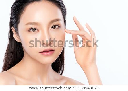 gyönyörű · lány · gyönyörű · smink · fiatalság · bőrápolás · nő - stock fotó © nobilior