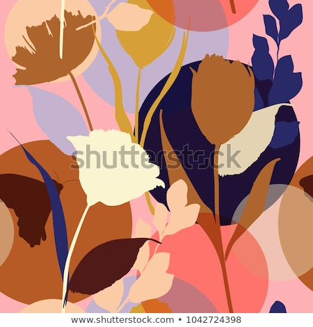 Stock photo: Creative and Bright Floral Plants and Texture Background