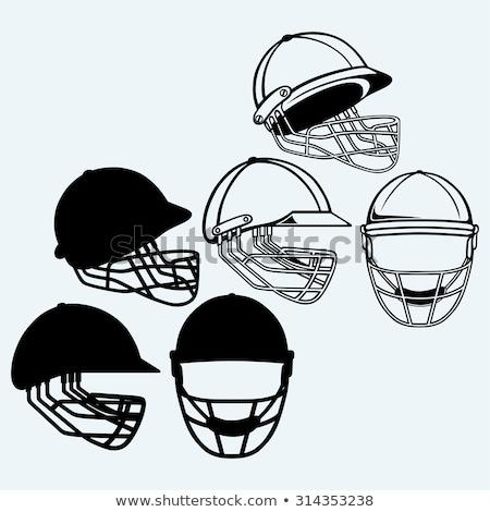 крикет шлема икона цвета шаблон дизайна Сток-фото © angelp