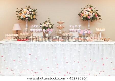 luxo · casamento · doce · bar · tabela · conjunto - foto stock © artfotodima