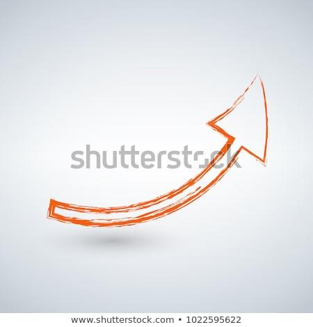 Turuncu grunge ok katı beyaz dizayn Stok fotoğraf © kyryloff