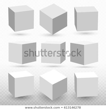Monocromático preto praça cubo vetor ilustração Foto stock © cidepix