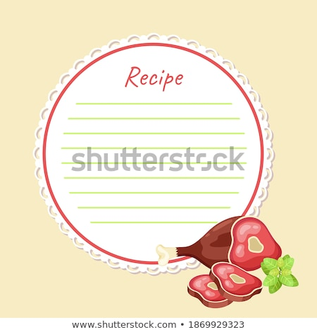 Cookbook Vector. Recipe Kitchen Cookbook Card Page. Blank For Text. Flat Illustration Stock photo © pikepicture