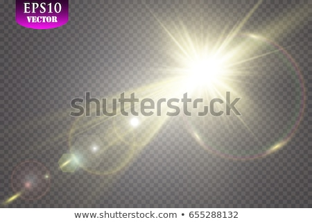 Vector sun light rays special effect. Glow transparent sunlight beams. Isolated flash spotlight Stock photo © Iaroslava