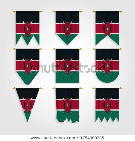 Kenya Various Shapes Vector National Flags Set ストックフォト © pikepicture
