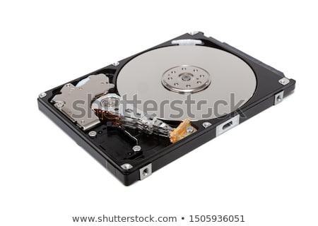disassembled computer hard drive close up stock photo © oleksandro